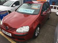 Volkswagen Golf 1.6 FSI ( 115PS ) auto 2005 SE Automatic Petrol MOT RED