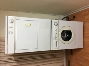 frigidaire apartment size washer electric dryer stackable combo