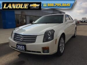 2003 Cadillac CTS   LOW KMS-VERY CLEAN CAR-DIAMOND WHITE