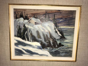 Oil Painting by Canadian artist Bruno Cote dated 1976
