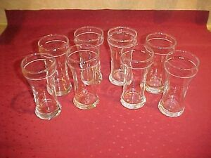SET OF EIGHT ALCB BEER GLASSES
