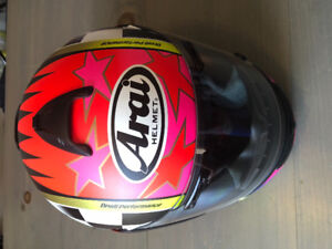 Used Arai motorcycle helmet.