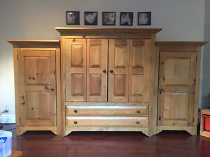 Solid wood entertainment unit - Must go price