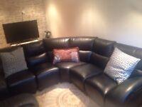 Très beau sofa sectionnel en cuir possibilité de livraison