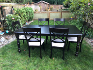 Custom ScanDesigns Dining Table And Chairs