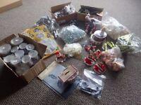 Large box of Christmas cake decorations