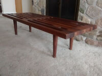 George Nelson Teak Bench and Coffee Table
