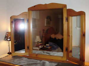 Beautiful Solid Wood Pine Hinged Mirror for Sale Cambridge Kitchener Area image 1