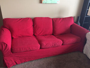 Used Red Ikea Couch