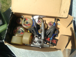 new long board sk8 wheels brand new bearing and some parts