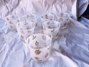 Vintage Gold Leaf Glasses