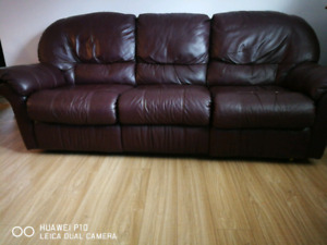 3-seater leather couch