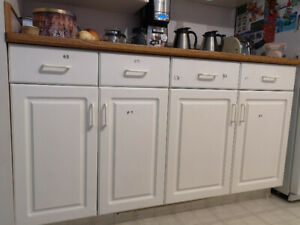 Full set of kitchen (including an island) and bathroom cabinets