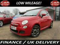"2014 FIAT 500S RED - 15"" ALLOYS - AIR CON - CHOICE IN STOCK - FINANCE - WARRANTY"
