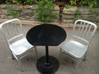 10 METAL TABLES AND 20 METAL CHAIRS GOOD FOR CAFE OR RESTAURANT