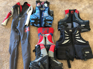 Lifejackets and wetsuit for Sale