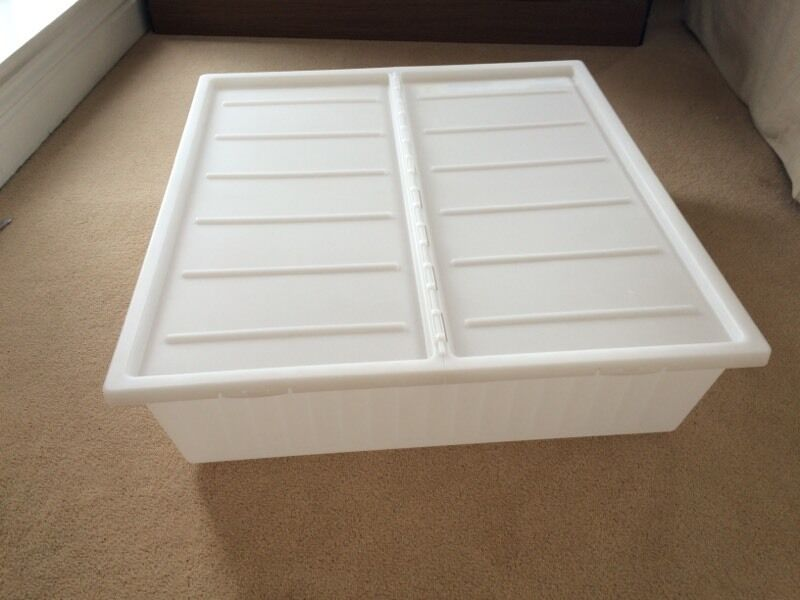 Two Ikea Gimse Under Bed Storage Boxes 5 For Both In