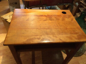 Vintage Student Desk Classroom Solid Maple or Oak