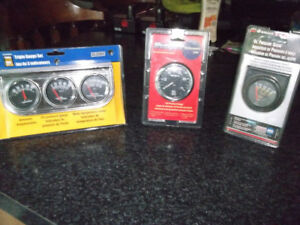 AUTO GUAGE SETS NEW IN PACKAGE ALL 3 FOR $40