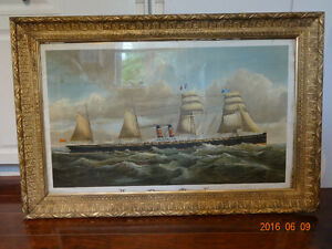 Old print of ship