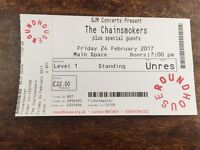 The Chainsmokers at The Roundhouse - Friday 24th February tickets x4