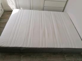 IKEA HOVAG pocket sprung king size mattress + 2 mattress protectors