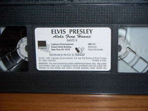 """RARE"" FIND ELVIS LIVE CONCERT ALOHA FROM HAWAII (VHS) Kawartha Lakes Peterborough Area image 2"
