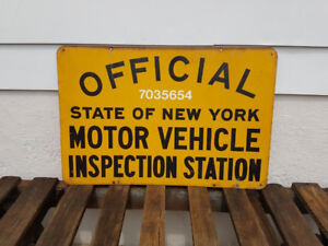 New York State Motor Vehicle Inspection Sign