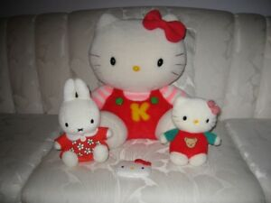Authentic Hello Kitty and Miffy Plush Dolls/ Stuffed Animals