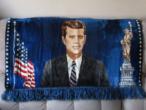 NEW PRICE Vintage President John F Kennedy tapestry Cambridge Kitchener Area image 1