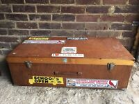 🇬🇧LOVELY VINTAGE BOX SUITCASE FREE DELIVERY STORAGE COFFEE TABLE