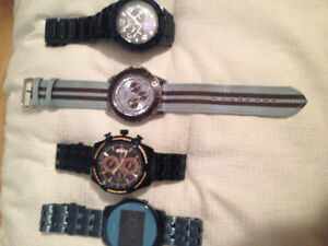 4 mens GUESS watches for sale
