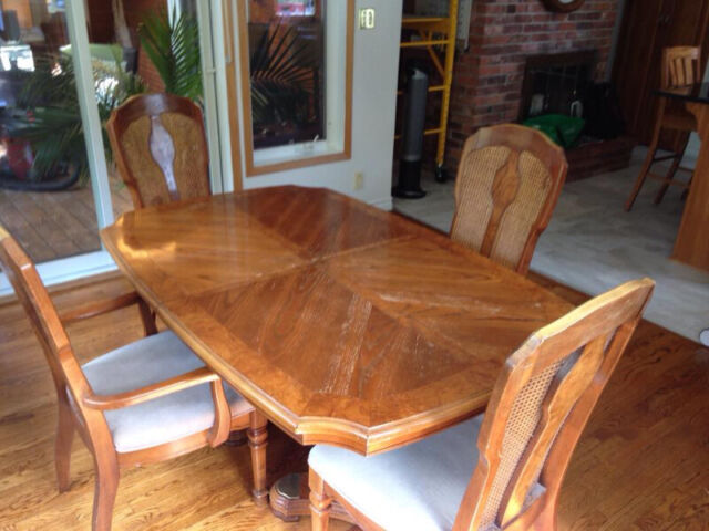 dining room table and four chairs  dining tables  sets