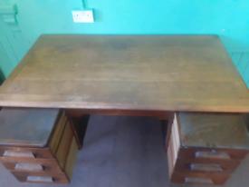 Vintage retro abyss oak teachers desk
