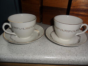 one cup and saucer set crown essex 22k gold decoration
