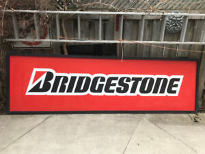 BRIDGESTONE-TIRE-POLYCARBONATE-SIGN-MAN-CAVE-10 ft X3 ft