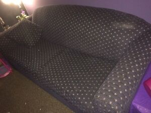 Blue double hide a bed couch