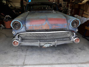 Rare project car.1957 buick roadmaster 2 dr.ht.300 hp 364 nailhd