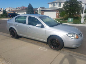 Silver 2009 Chevy Cobalt LS Sedan, Manual Transmission