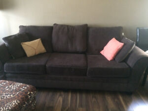 Large brown couch