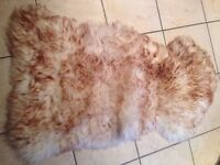 Large brown tipped sheepskin rug, great condition!