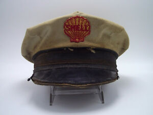 Shell Gas Station Attendant Hat Vintage Clam shell