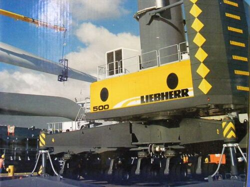 NZG 713 Liebherr LHM500 Mobile Harbor Crane 1/87 HO Scale Die-cast MIB