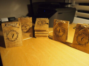 Table Numbers for wedding or special event