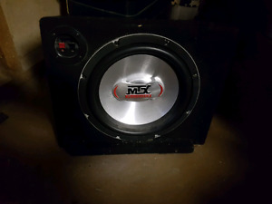 "10"" mtx sub and custom box"