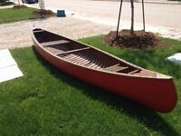 "14"" foot cedar strip canoe"