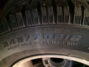 Used studded tires & rims - 245/70/R16