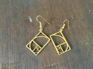 Golden Ratio earrings from Think Geek, never worn
