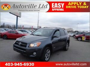 2010 Toyota RAV4 Sport 4WD  Leather Heated Power Seats,Sunroof