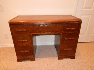 ANTIQUE VANITY WITH STOOL